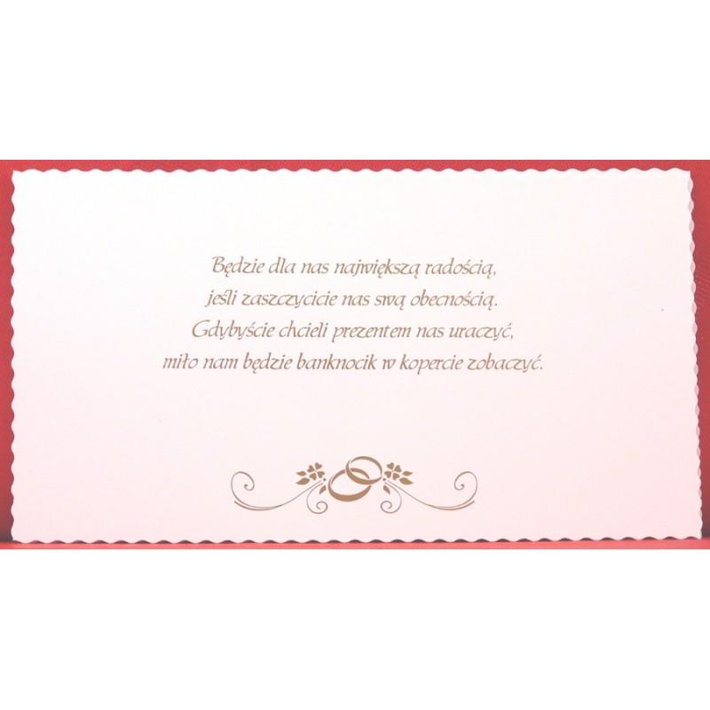 Zaproszenie ślubne Zsp 797 Artmilanpl